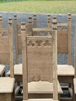 Set 8 Oak Farmhouse Dining Chairs (5 of 14)
