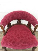 Pair of Victorian Mahogany Upholstered Tub Chairs (10 of 15)