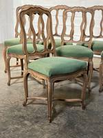 Set of 10 French Bleached Oak Farmhouse Dining Chairs (15 of 16)