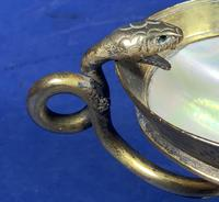 Russian 19th Century Gilt Bronze Tazza Shell on a Marble Base (8 of 14)