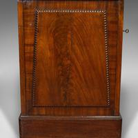 Tall Antique Side Cabinet, English, Mahogany, Bedside, Nightstand, Regency, 1820 (4 of 12)