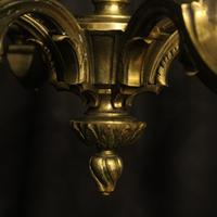 French Bronze 6 Light Antique Chandelier (7 of 10)