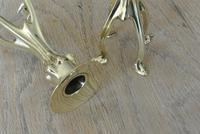 Rare William Tonks Art Nouveau Brass Candlesticks Registration Number 377187 for 1900 (4 of 8)