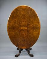 Victorian Burr Walnut Oval Loo Table (2 of 9)