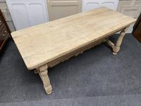 French Rustic Bleached Oak Farmhouse Kitchen Table (14 of 23)