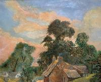 Original 19th Century British Farmland Countryside Landscape Oil Painting (6 of 11)