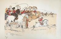 6 Original Chromolithograph Prints of Hunting Scenes by Cecil Aldin 1870-1935. Signed or Initialled & Dated 1900 (6 of 6)