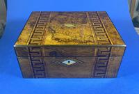 Victorian Burr Walnut  Box With Tunbridge Ware Inlay. (6 of 12)
