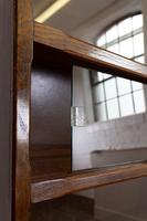 1930s Vintage Oak Glazed Bookcase Cabinet (16 of 16)
