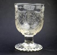 Exceptional, Fine & Rare Regency Oddfellows / Masonic Glass Rummer c.1814 (4 of 11)