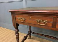 Good Late Victorian Mahogany Writing Table (2 of 14)