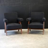 Upholstered Chandigarh Easy Armchair & Sofa by Pierre Jeanneret (6 of 8)