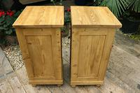 Fabulous! Pair of Old Stripped Pine Bedside Cabinets / Cupboards - We Deliver! (7 of 9)