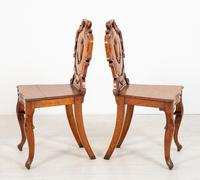 Wonderful Pair of Victorian Oak Hall Chairs (5 of 7)