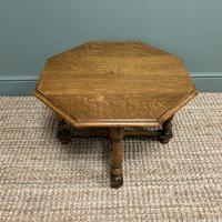 Quality Edwardian Oak Antique Coffee Table (3 of 5)