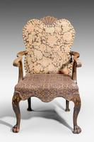 Late 19th Century Walnut Library Chair (9 of 9)