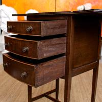 Chest of Drawers Mahogany Bowfront Drop Leaf 19th Century Petite (8 of 11)