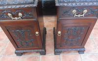 Rare Pair of Mahogany Adams Style Pot Cupboards 1820 (9 of 10)