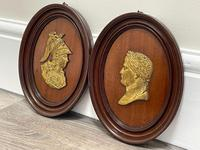 Pair of Interesting 19th Century Gilded Bronze Alexander The Great & Napoleon Cameo Plaques (4 of 29)