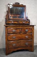 Edwardian Simulated Walnut Bedroom Suite (15 of 21)