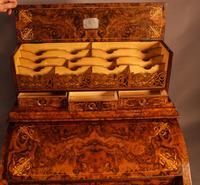 "Superb Victorian Burr Walnut ""Jack in a Box"" Davenport (11 of 16)"