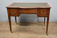 Antique Mahogany Inlaid Writing Desk
