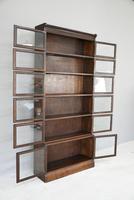 Minty Oak Sectional Glazed Bookcase (11 of 12)