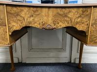 Queen Anne Burr Walnut Kidney Dressing Table (14 of 17)