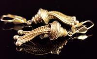 Victorian 9ct Gold Tassel Earrings (4 of 7)