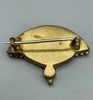 Micro Mosaic Fan Shaped Brooch (7 of 11)