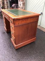 Antique Walnut Pedestal Writing Desk (pri) (4 of 10)