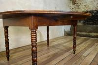 19th Century French Chestnut Circular Drop Leaf Table (7 of 10)