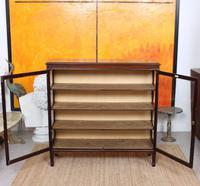 Glazed Bookcase Display Cabinet Edwardian Mahogany (8 of 9)
