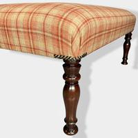 Buttoned Tartan Plaid Low Footstool (5 of 7)