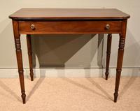 George III Single Drawer Mahogany Side Table (2 of 6)