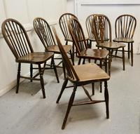 Collection of 8 Beech & Elm Country Windsor Chairs (10 of 12)