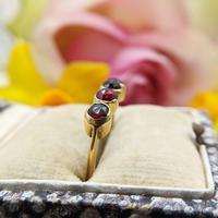 Vintage 18ct Gold Four Garnet Crystal Ring (7 of 9)