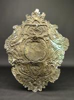 Large Early 18th Century Silvered Repoussé Wall Sconce (2 of 5)
