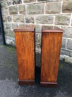 Pair of Antique Mahogany Open Bookcases (6 of 7)