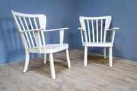 Pair of Painted Canadian Armchairs