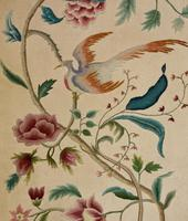 """Pretty 3 Fold Arch Screen decorated with """"Bird of Paradise"""" (4 of 5)"""