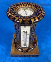 Victorian Burr Maple Thermometer & Compass by Thomas Barton (2 of 14)