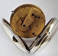 Antique Silver H Samuel Pocket Watch, 1890 (5 of 6)