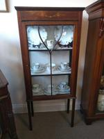 Pair of Edwardian Glazed Mahogany Display Cabinet with 2 Shelves (2 of 8)