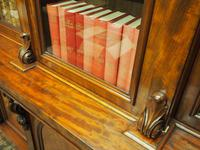 Victorian Mahogany Breakfront Cabinet Bookcase (12 of 19)