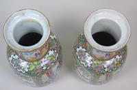Good Large Pair of Chinese Famille Rose Rouleau Vases 19th Century (7 of 11)