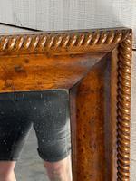 19th Century French Burr Walnut Wall Mirror (13 of 19)