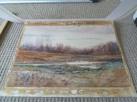 Fine Large  19th Century English School Watercolour - Wooded Marshland Scene. (3 of 5)
