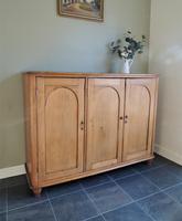Fabulous Large Antique Georgian Solid Pine Cupboard Sideboard Cabinet
