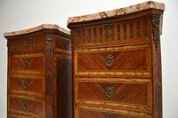 Pair of Antique French Marble Top Slim Chests of Drawers (4 of 11)